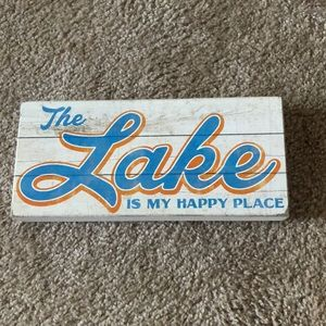 The Lake.... Wooden Decor Sign